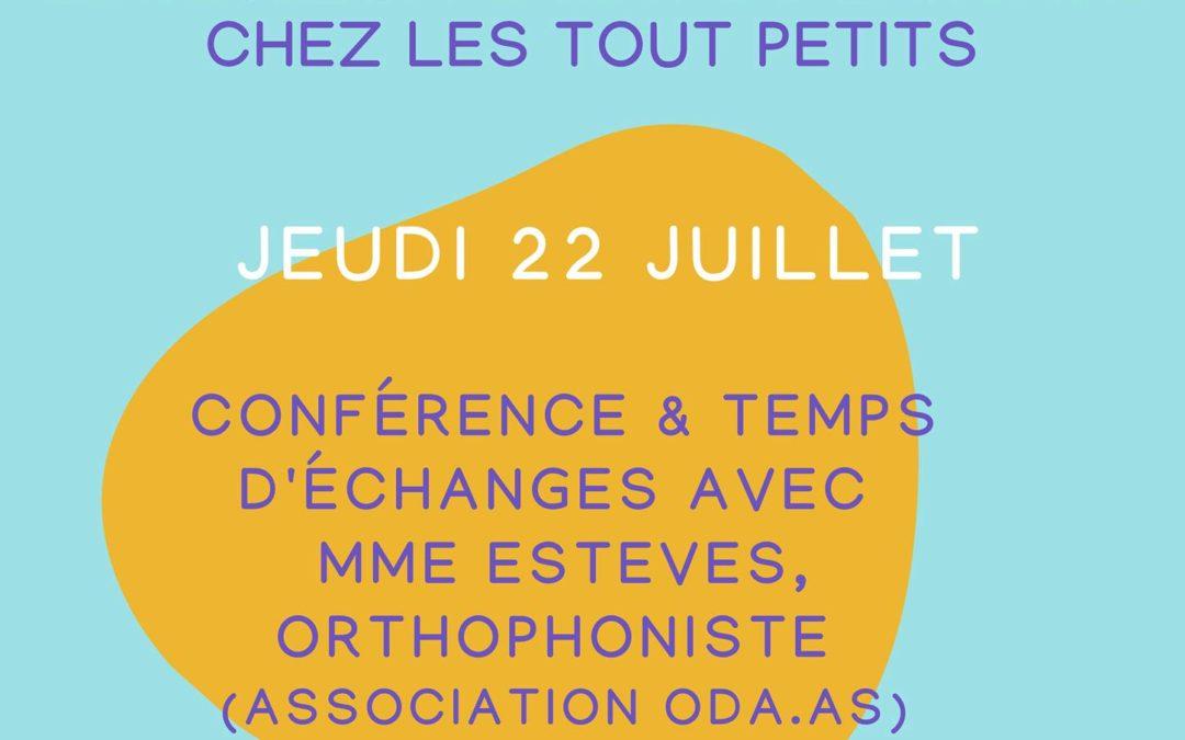 Conférence : le développement du langage chez les tout petits.